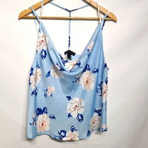 Sws | Baby Blue Floral Tank